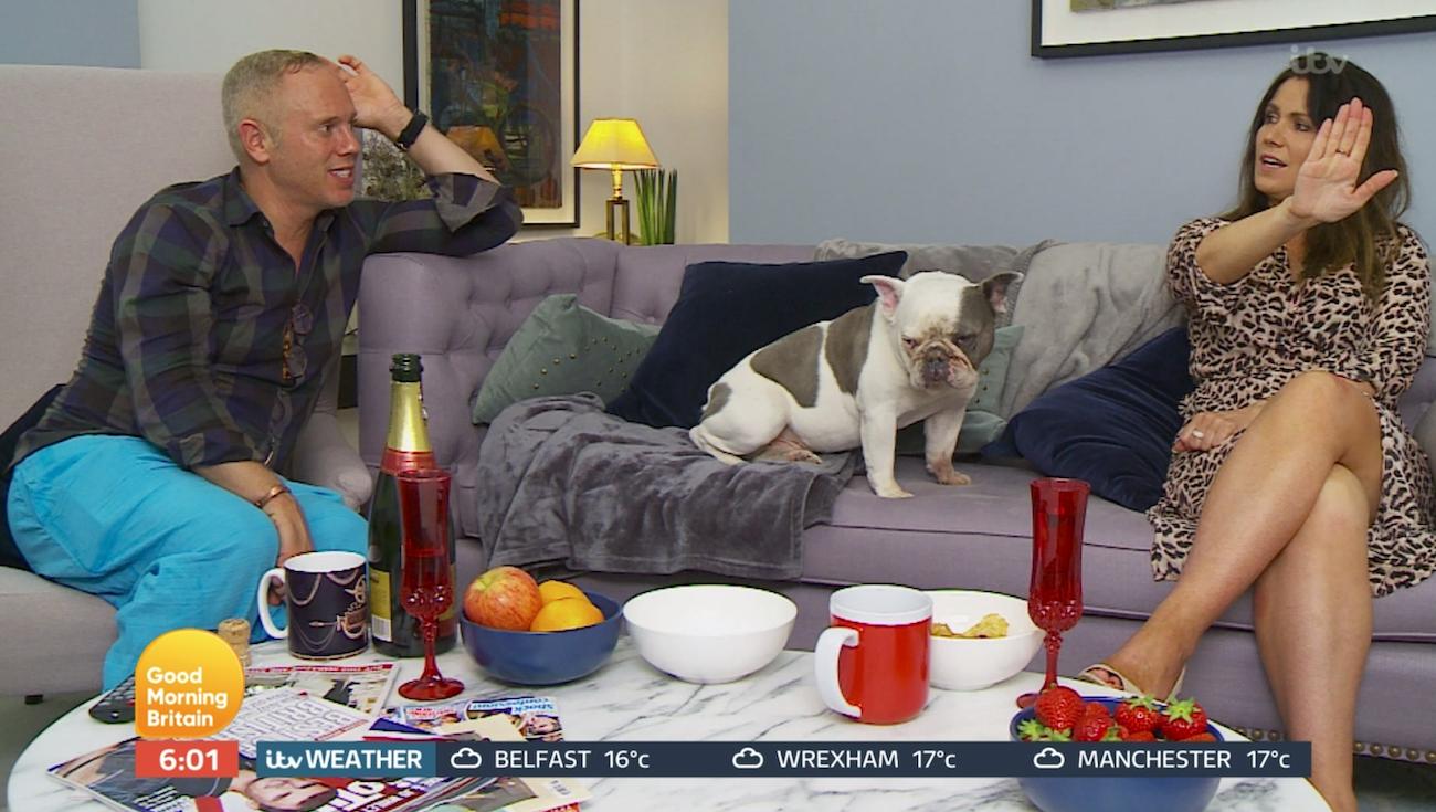 Rob Rinder and Susanna Reid on Celebrity Gogglebox