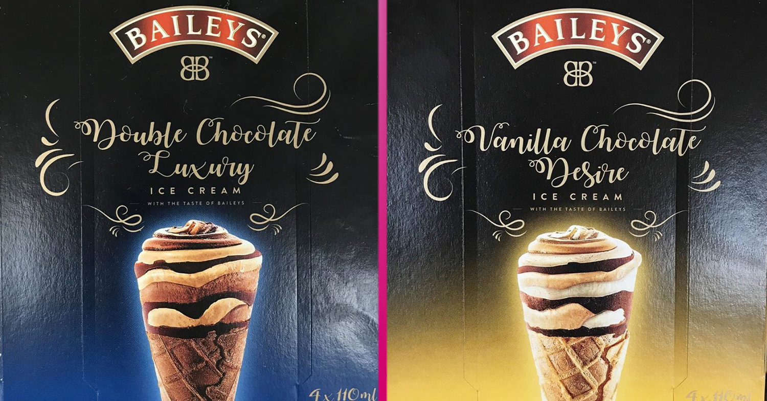 Baileys Vanilla Chocolate Desire and Double Chocolate Luxury ice cream cones have fans drooling