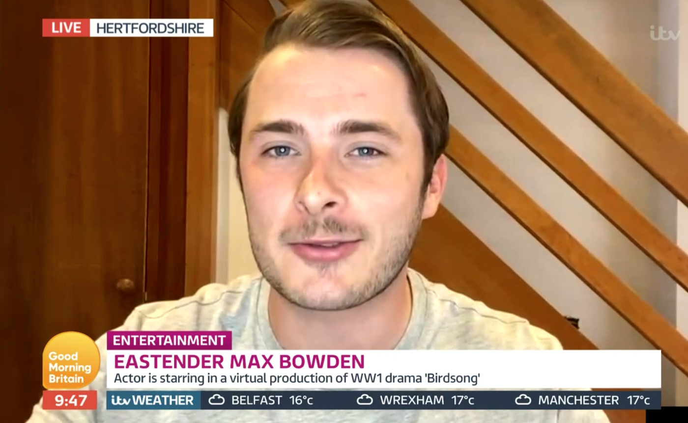 Max Bowden EastEnders GMB