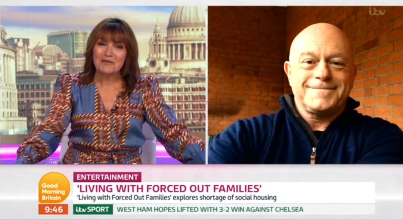 Lorraine and Ross Kemp ITV