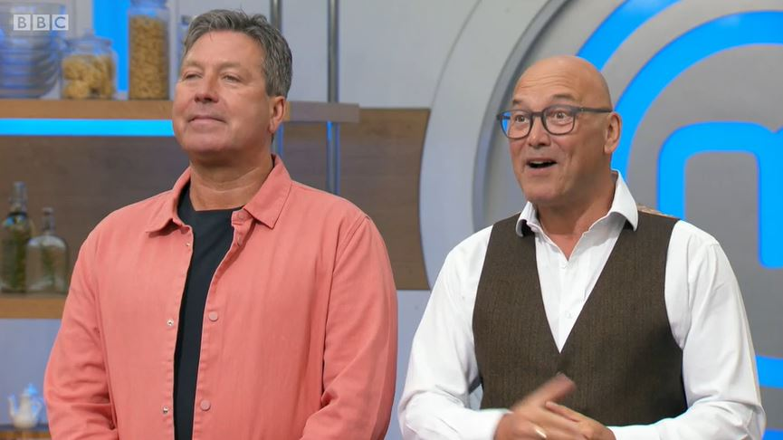 John Torode and Gregg Wallace on Celebrity MasterChef
