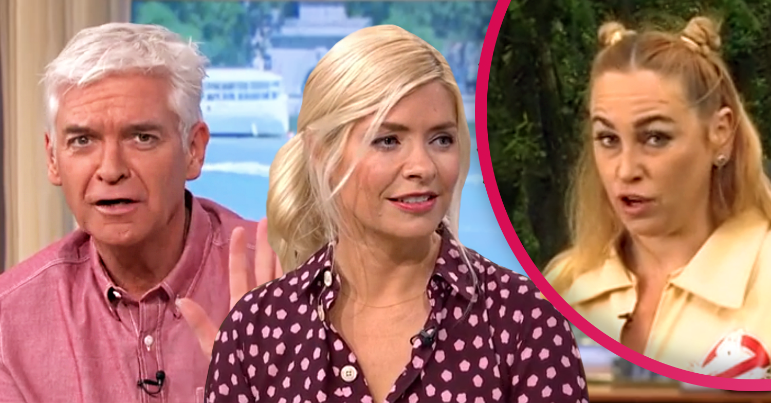 Josie Gibson splits her jumpsuit on This Morning