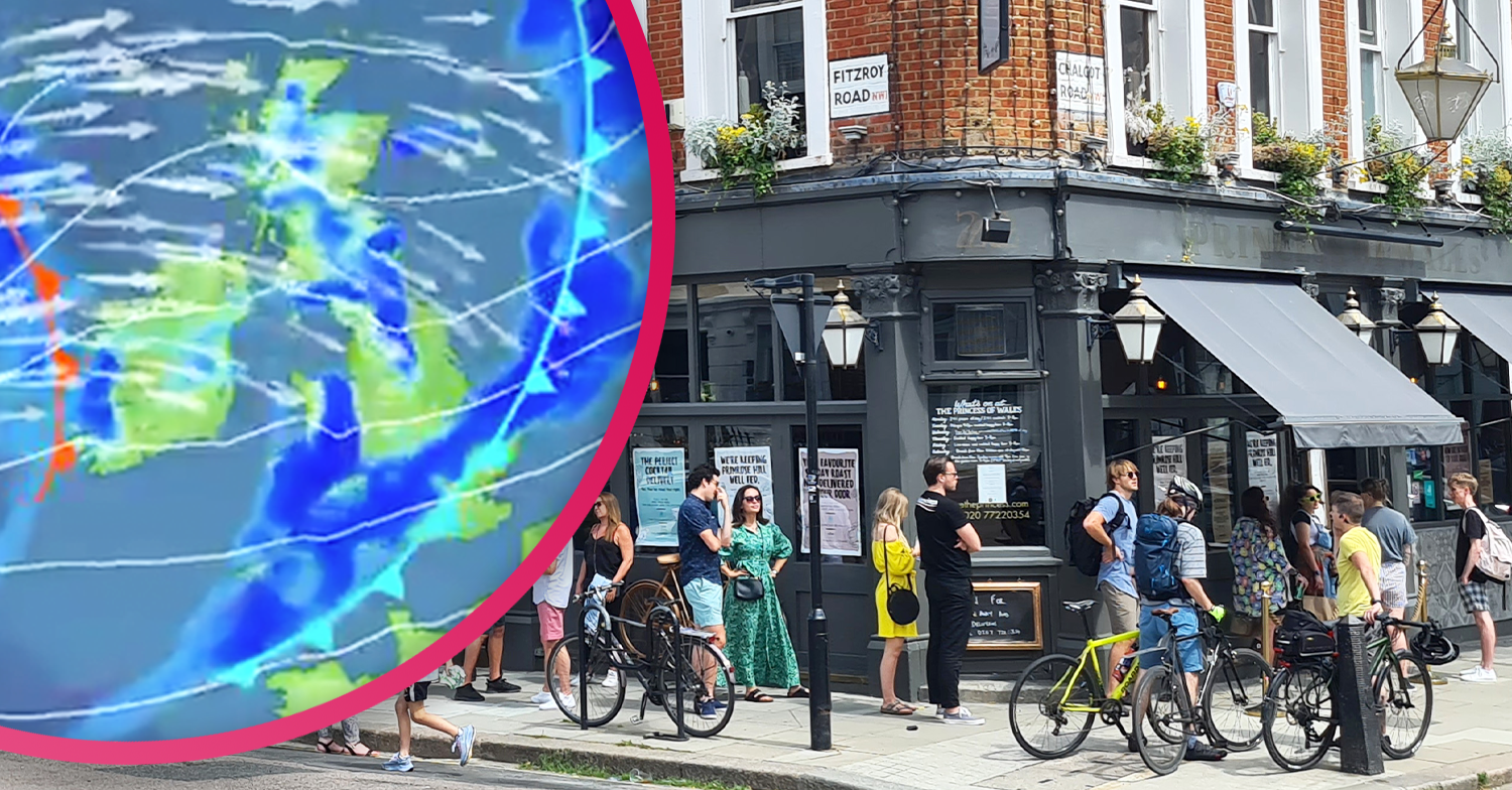 Super Saturday is set to be a weather washout as Brits plan to avoid pubs