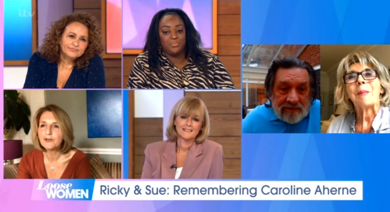 Ricky Tomlinson Sue Johnston Loose Women ITV