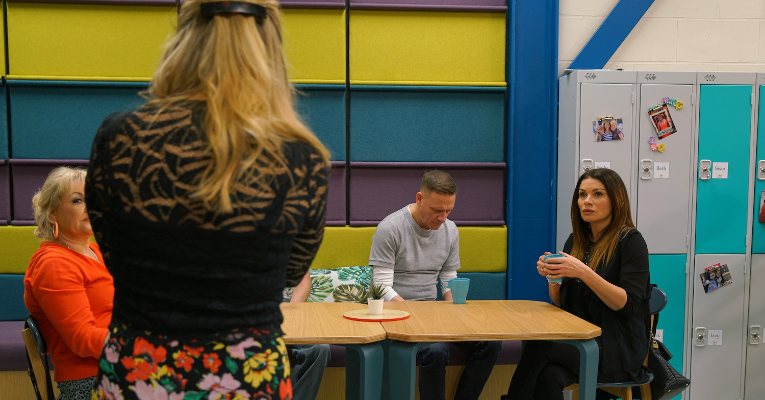 Carla is back at the factory in Coronation Street