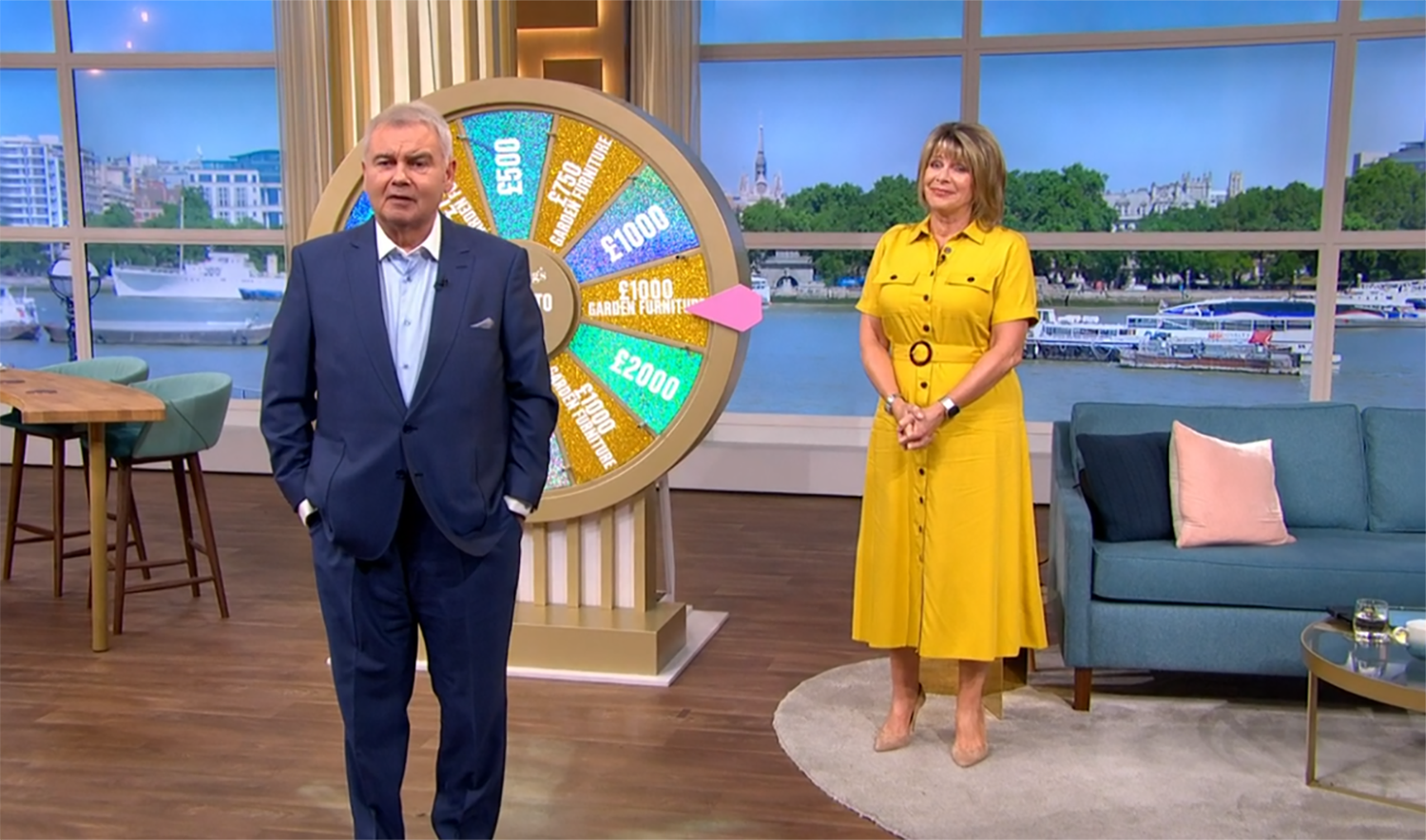This Morning stars Eamonn Holmes and Ruth Langsford forced to scrap Spin To Win after awkward blunder