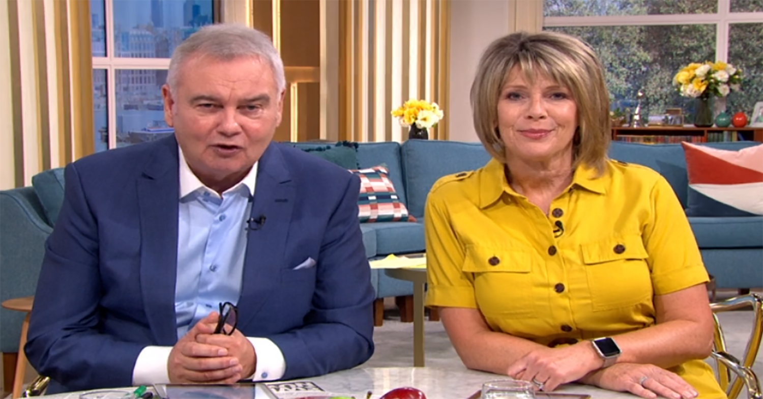 Eamonn Holmes and Ruth Langsford taking a break from This Morning