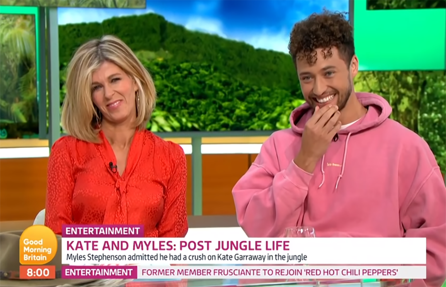 Myles Stephenson and Kate Garraway on GMB