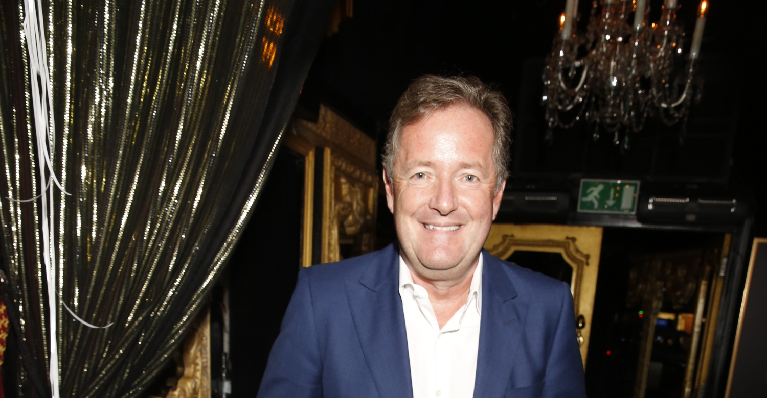 Piers Morgan races to local Kensington coffee shop reopening