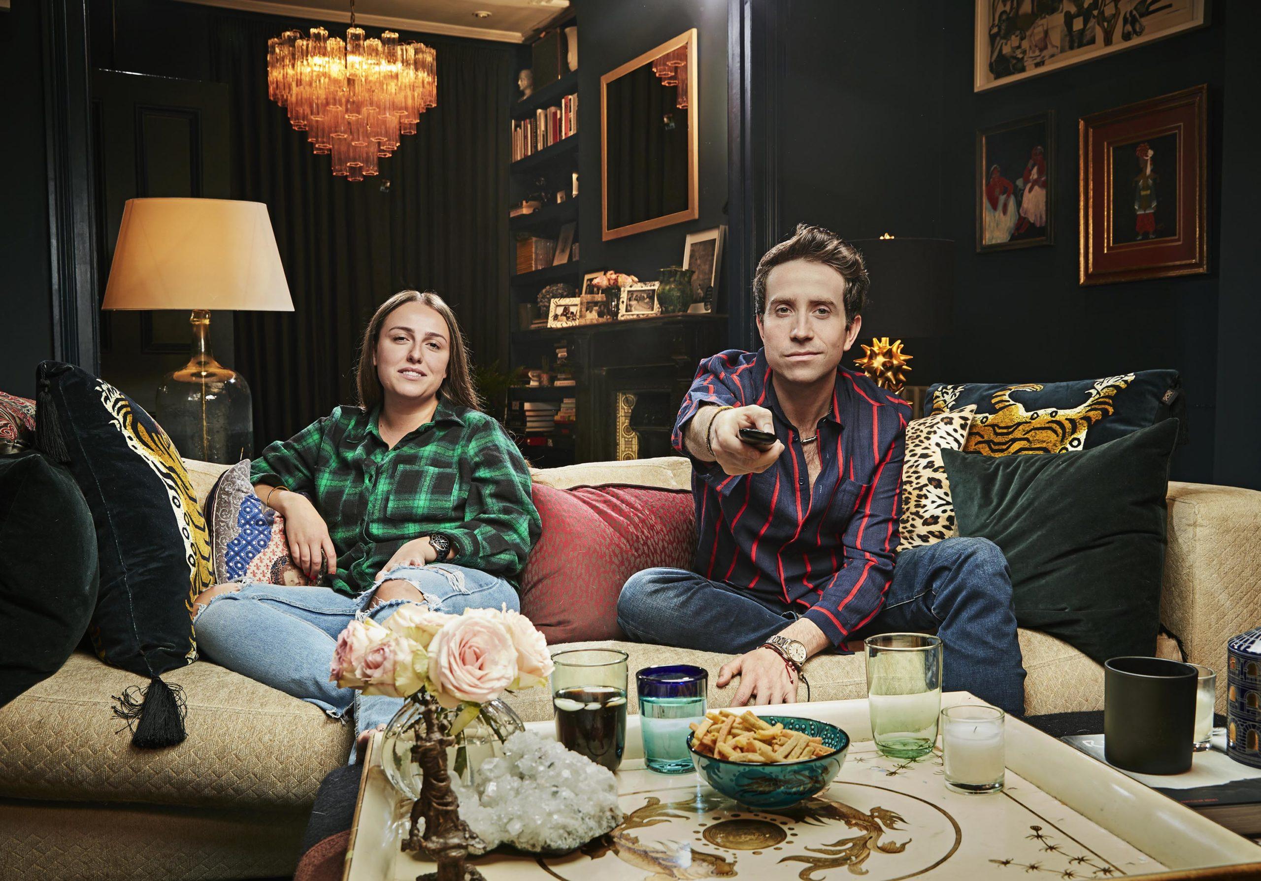 Celebrity Gogglebox pair Nick Grimshaw and niece Liv