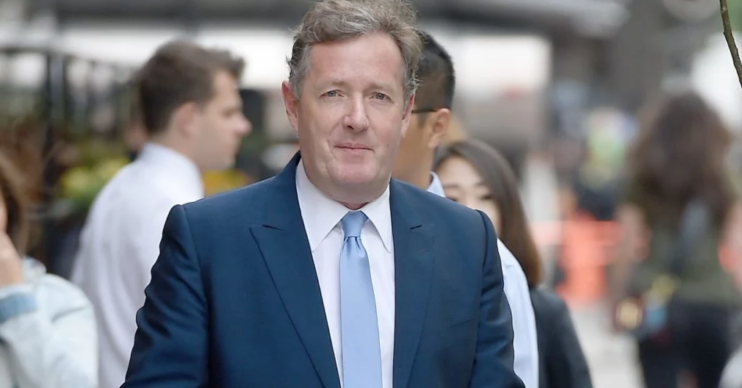 Piers Morgan seen wearing a blue suit in New York City Pictured: Piers Morgan Ref: SPL1281853 130516 NON-EXCLUSIVE Picture by: SplashNews.com Splash News and Pictures USA: +1 310-525-5808 London: +44 (0)20 8126 1009 Berlin: +49 175 3764 166 photodesk@splashnews.com World Rights