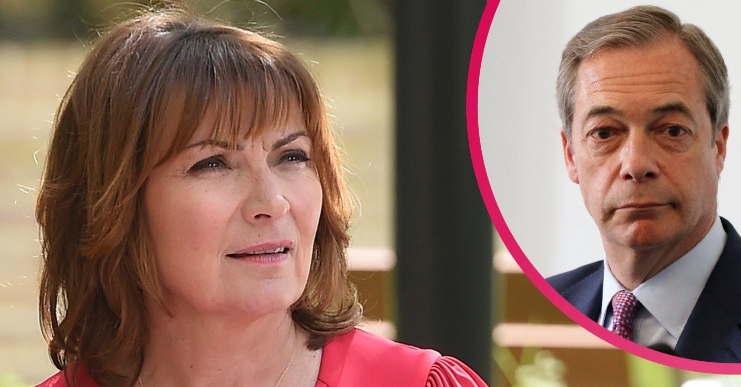 Lorraine Kelly gutted as she learns Nigel Farage's age on Good Morning Britain