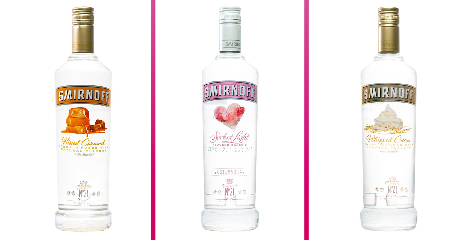 Smirnoff launches new range of vodkas that sound good enough to eat