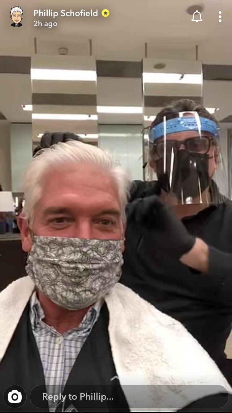 Phillip Schofield gets hair cut
