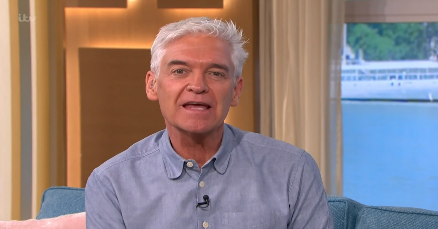 Grinning Phillip Schofield says 'they can't sack me' as he flouts This Morning rules again