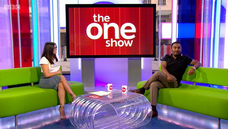 Kym Marsh and Amol Rajan on The One Show