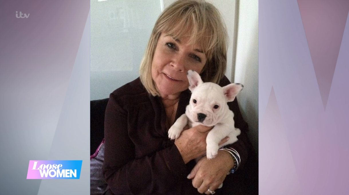 Linda Robson and her dog