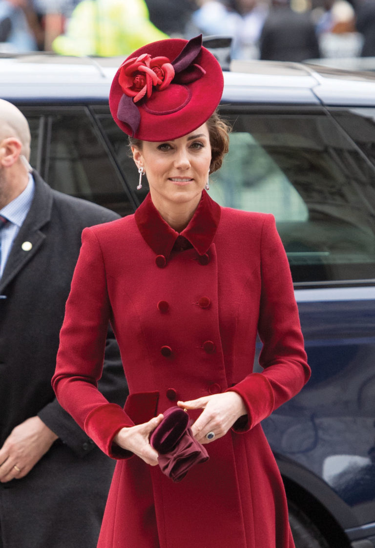Speaking of the Queen, Kate wore Her Majestys Maple leaf
