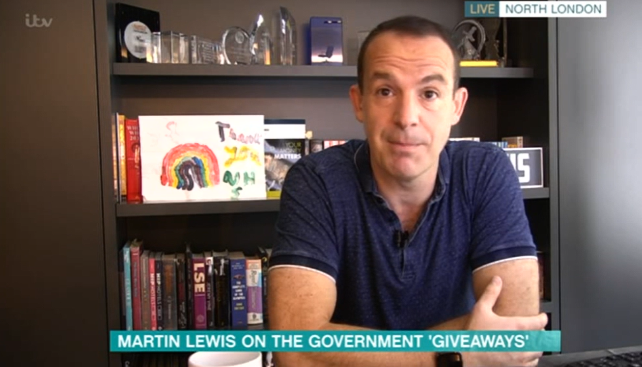 Martin Lewis on This Morning Credit: ITV