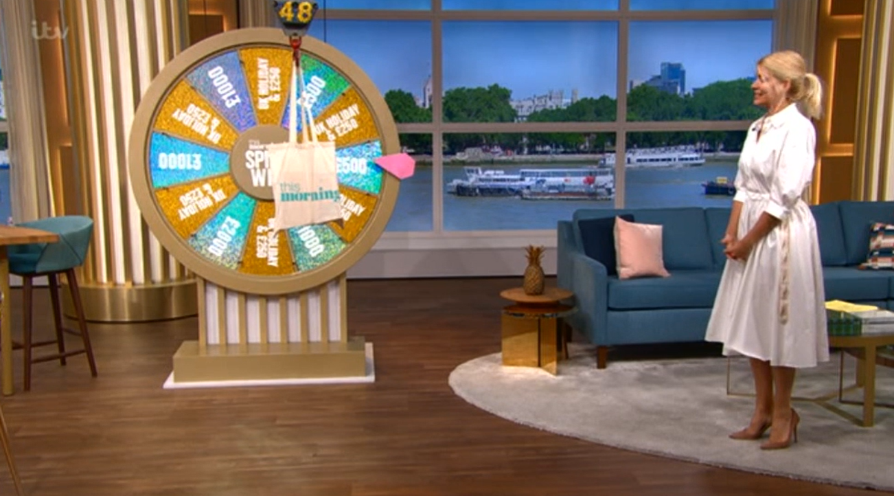 Spin To Win This Morning Holly Willoughby Credit: ITV