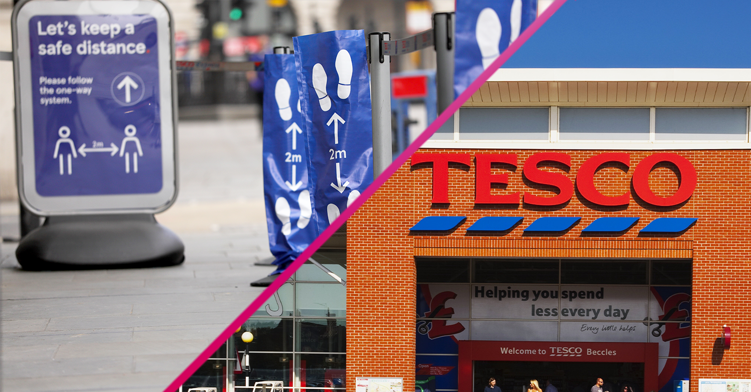 Shoppers brand Tesco 'reckless' after it reviews in-store safety measures