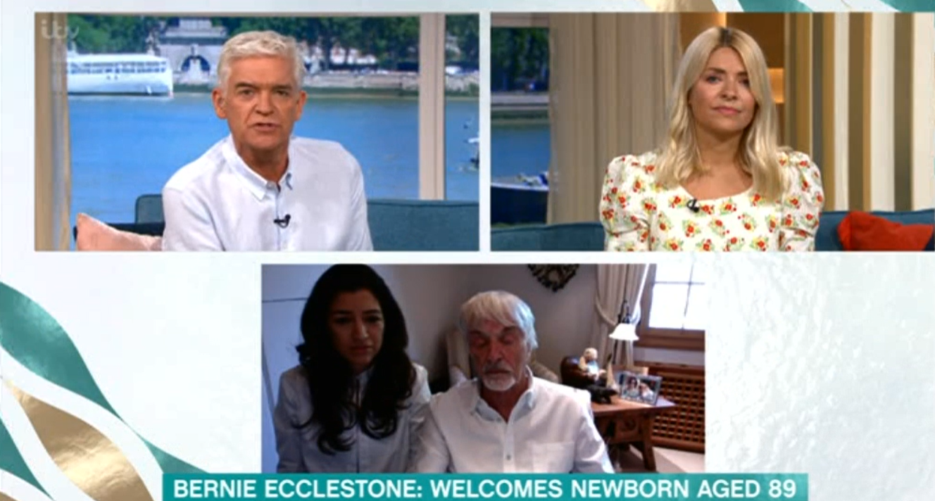 This Morning Bernie Ecclestone Phil Holly ITV