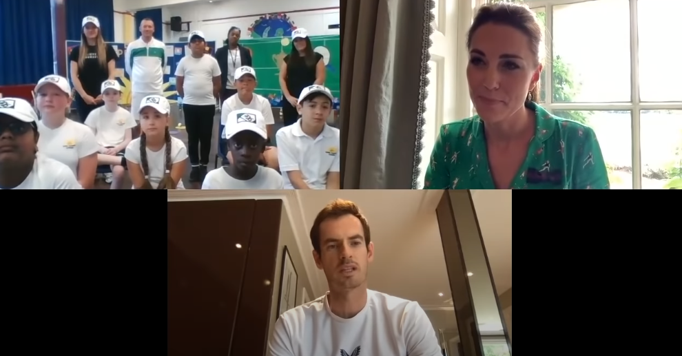 Kate Middleton and Andy Murray team up