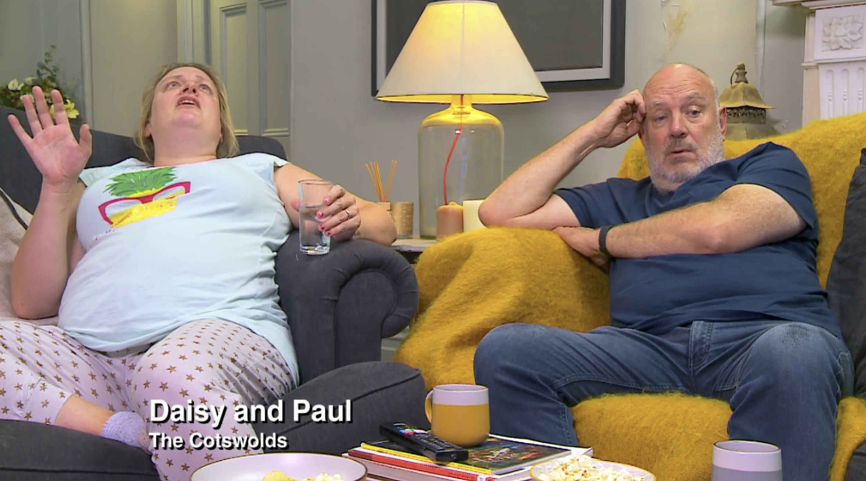 screenshot of celebrity gogglebox