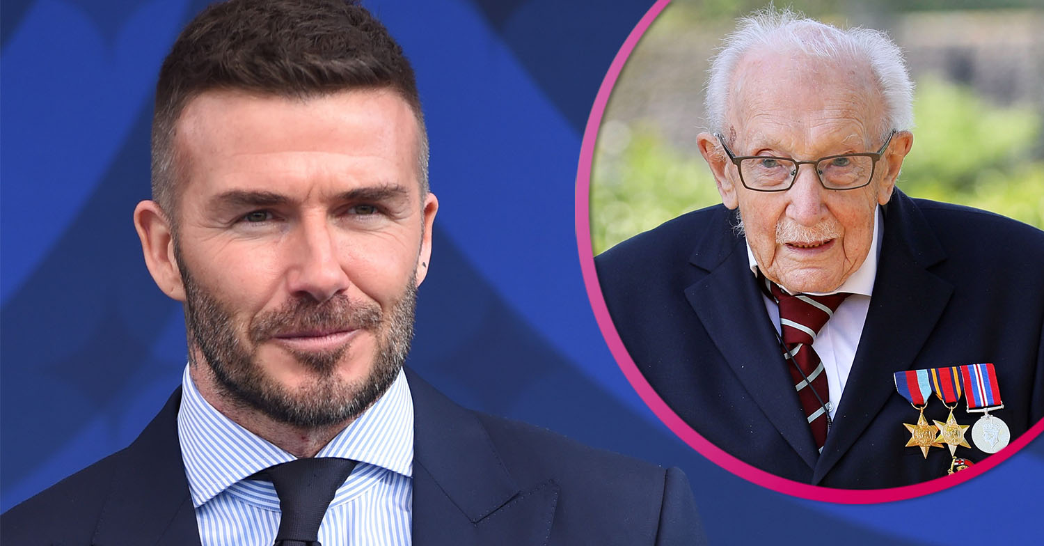 David Beckham reveals 'favourite afternoon ever' as he honours Captain Sir Tom Moore
