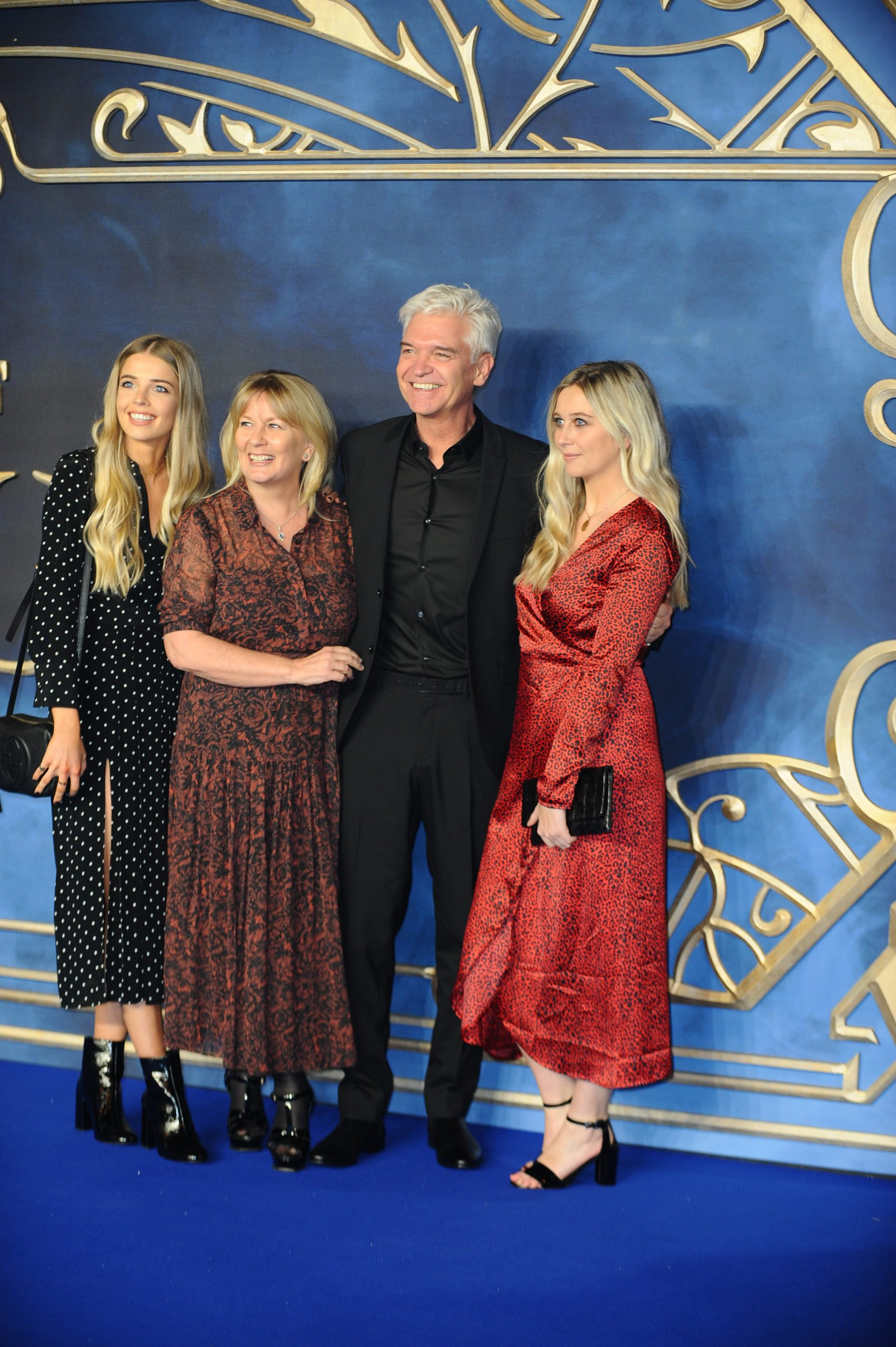Philip Schofield with family