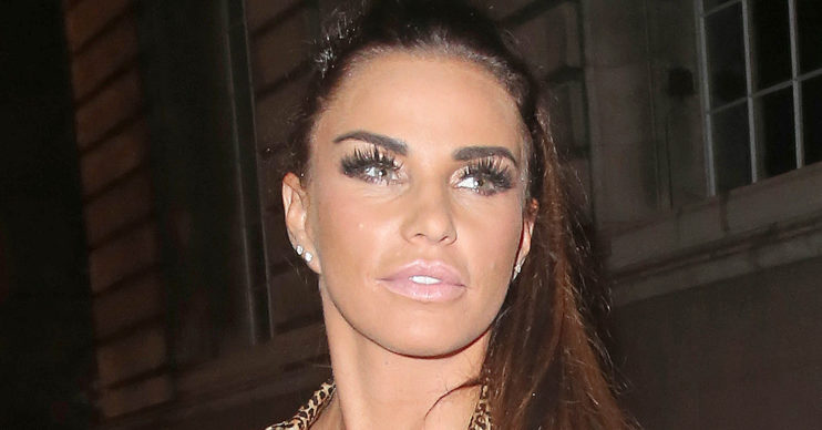 Katie Price broken feet
