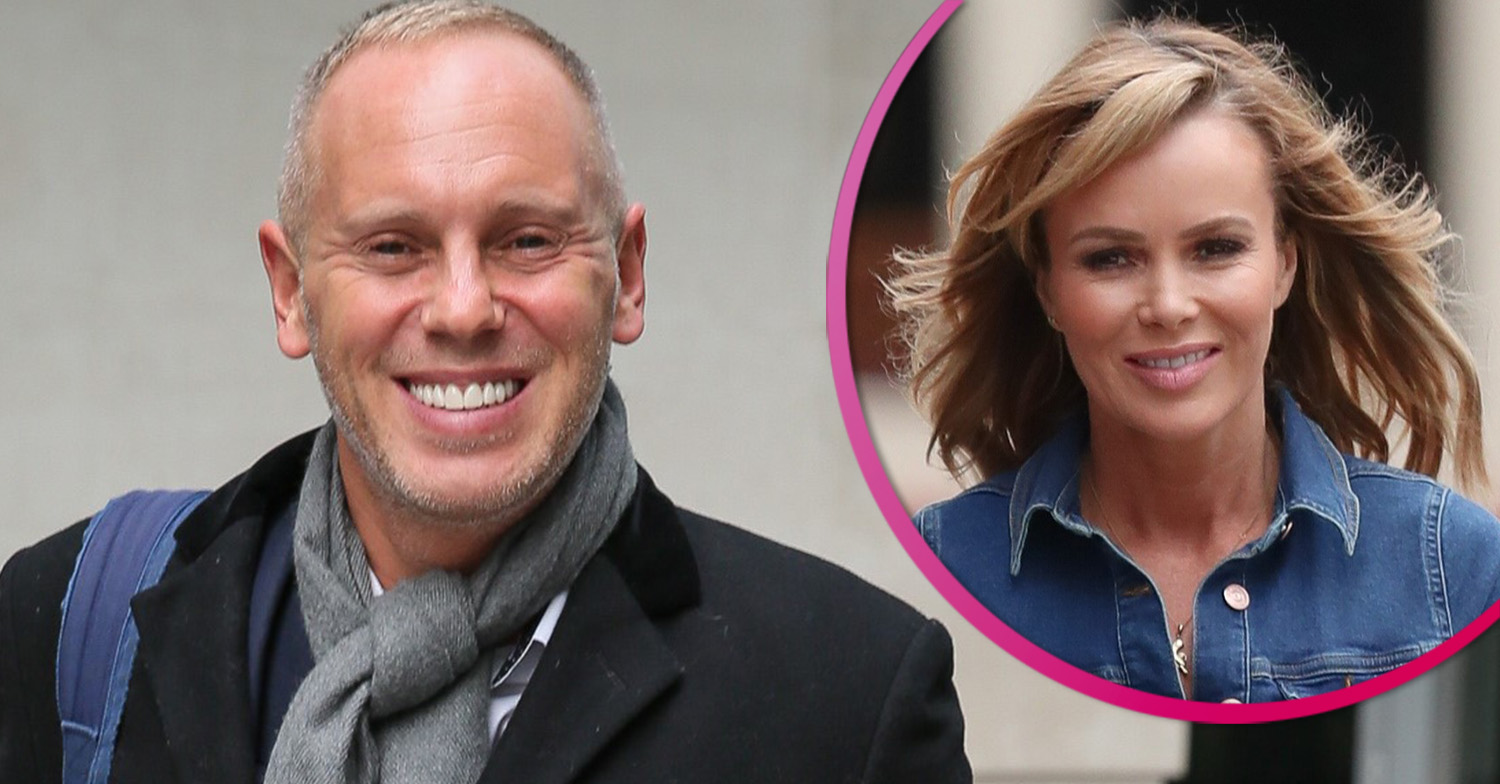 Judge Rinder copies Amanda Holden by posing in a wedding dress
