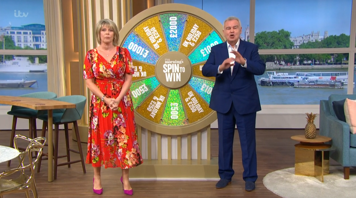 Ruth and Eamonn holmes on This Morning