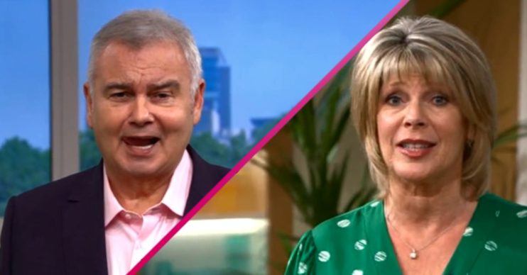 This Morning Eamonn Holmes Ruth Langsford bickering Tuesday Credit: ITV