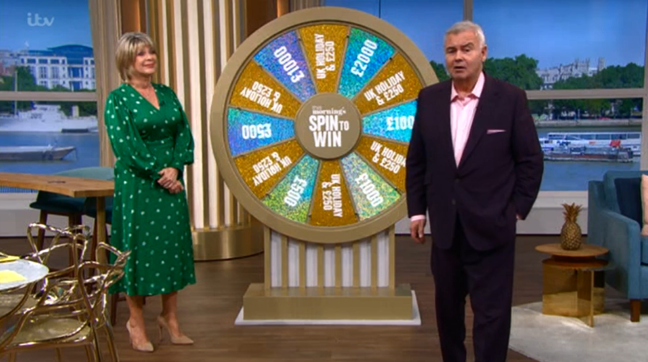 Spin to win Eamonn Ruth This Morning Credit: ITV