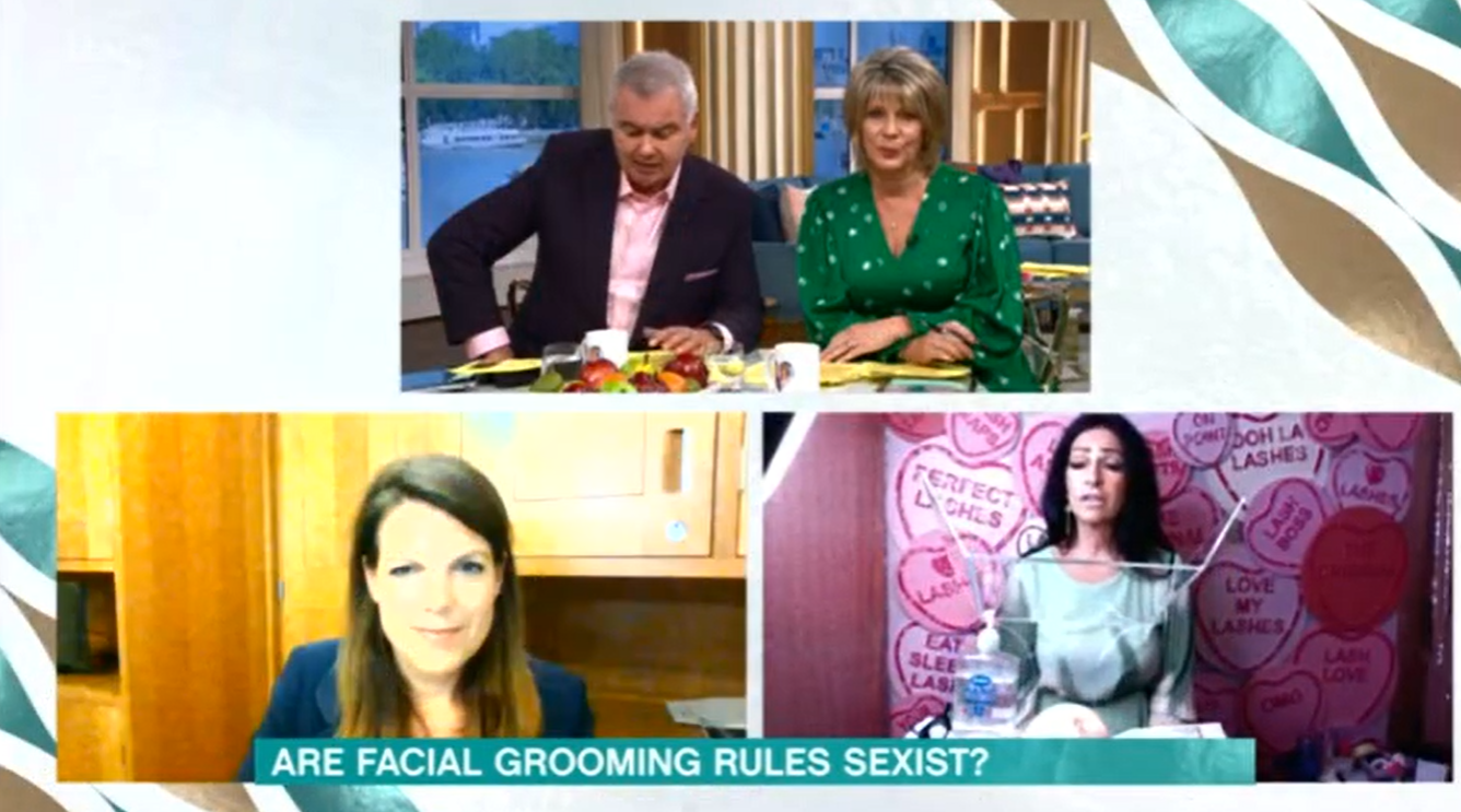 This Morning Ruth Eamonn Laura Grant sexism debate Credit: ITV