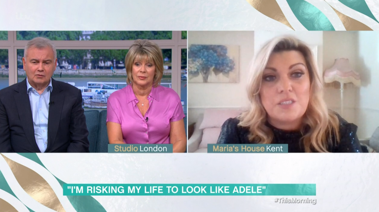 Adele impersonator on This Morning