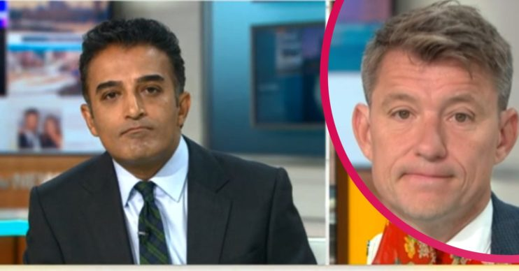 Adil Ray Ben Shephard Good Morning Britain Credit: ITV