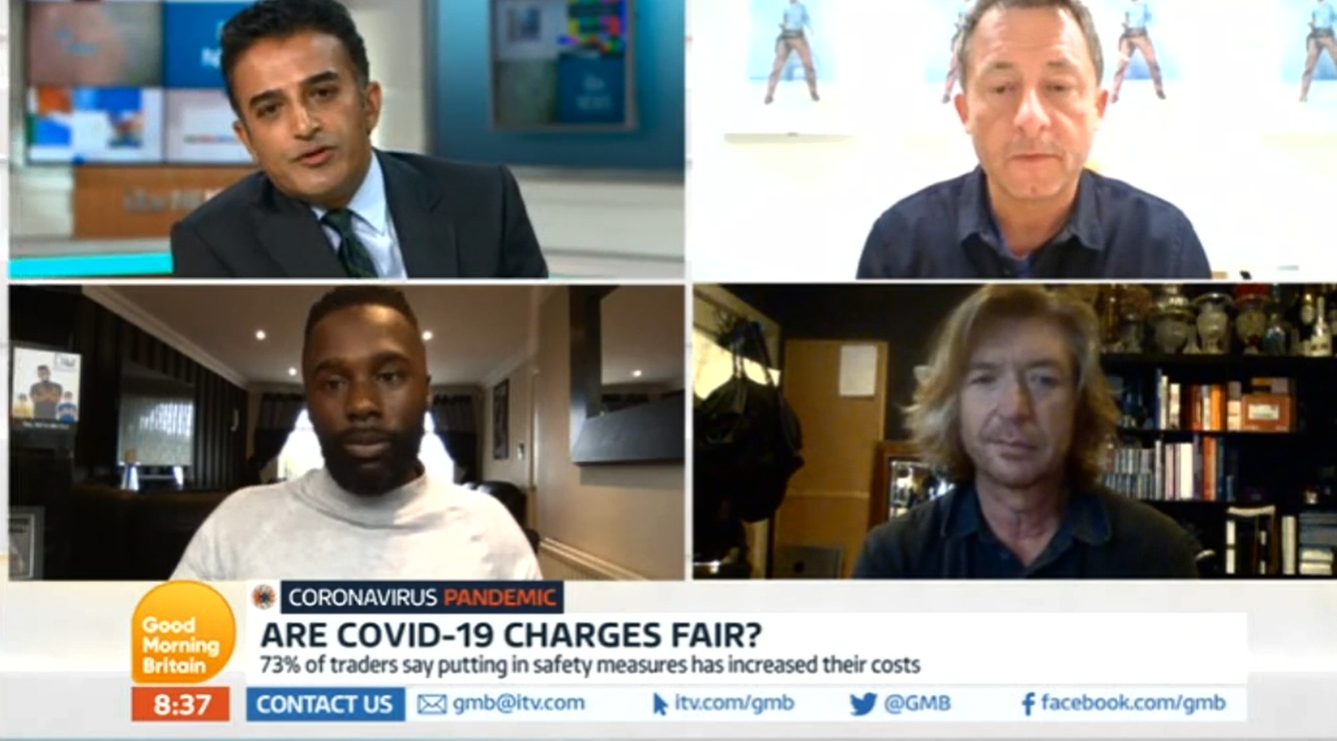 Good Morning Britain COVID charges debate ITV