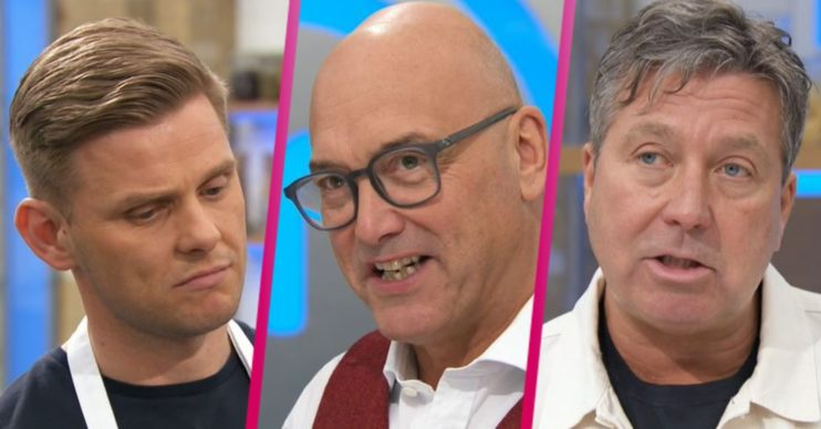 Jeff Brazier, Gregg and John on Celebrity MasterChef