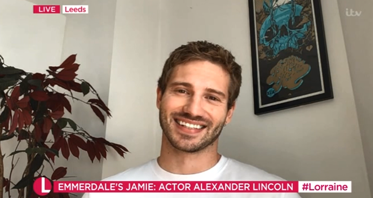 Alexander Lincoln Emmerdale Jamie Tate Lorraine Credits: ITV