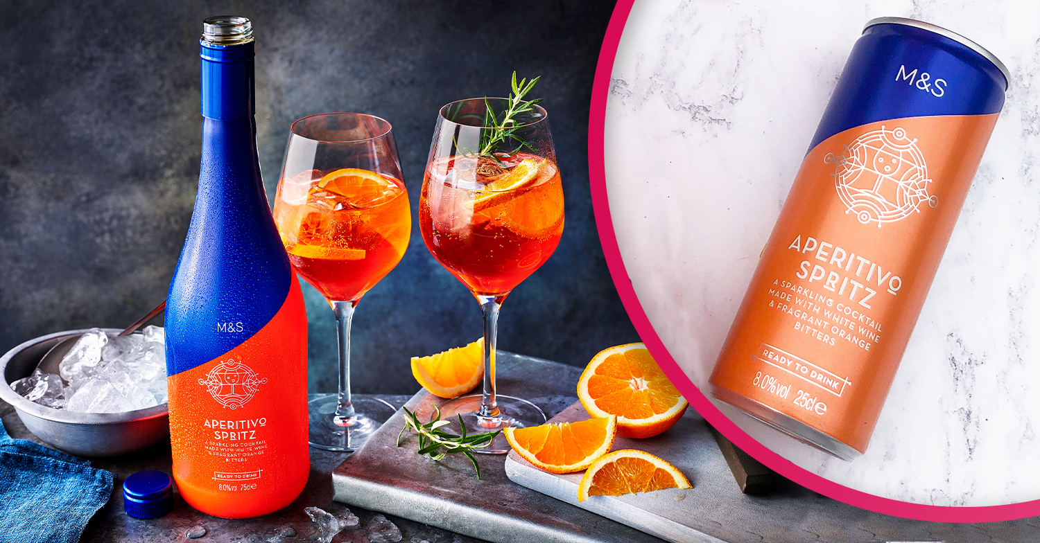 M&S launches canned Aperol Spritz cocktails just in time for this weekend's heatwave