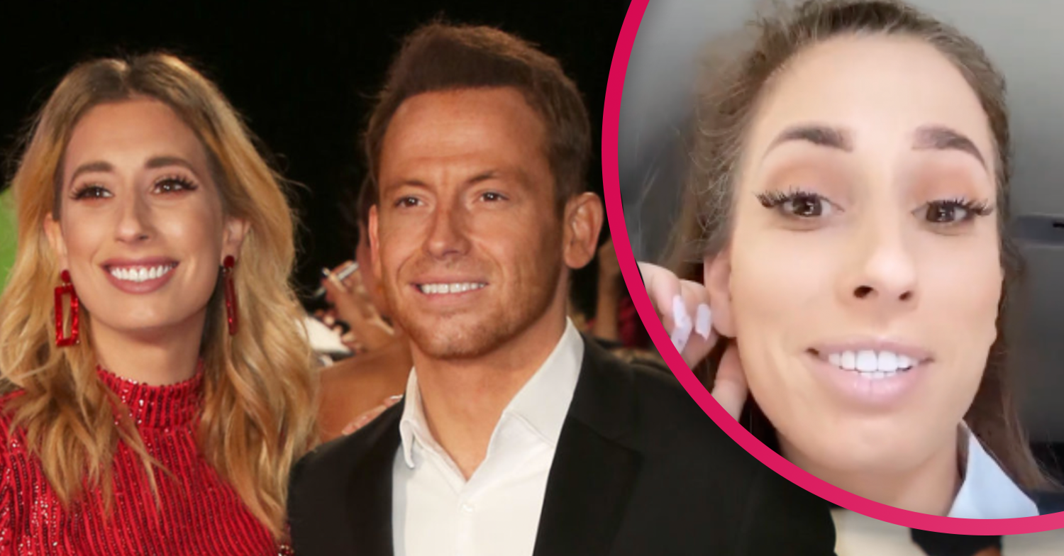 Stacey Solomon apologises after sharing snap of Joe Swash with his trousers undone