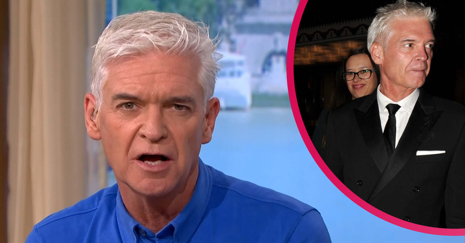 Phillip Schofield admits to feeling emotional as he cleans out late father's garage