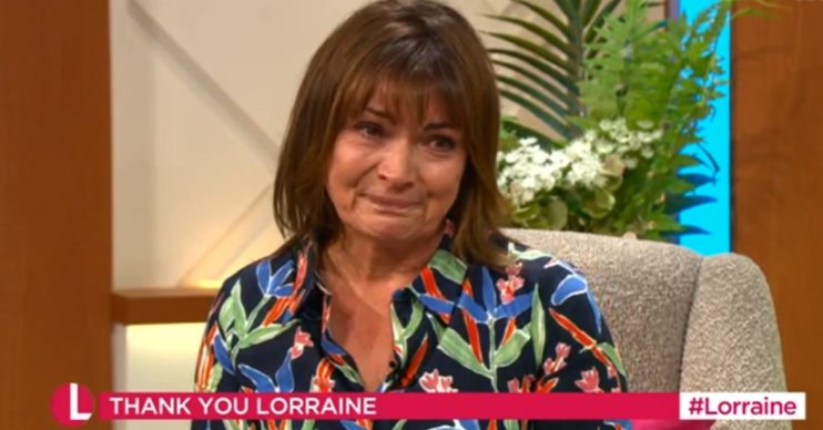 Lorraine in tears over tribute Fri 17 July Credit: ITV