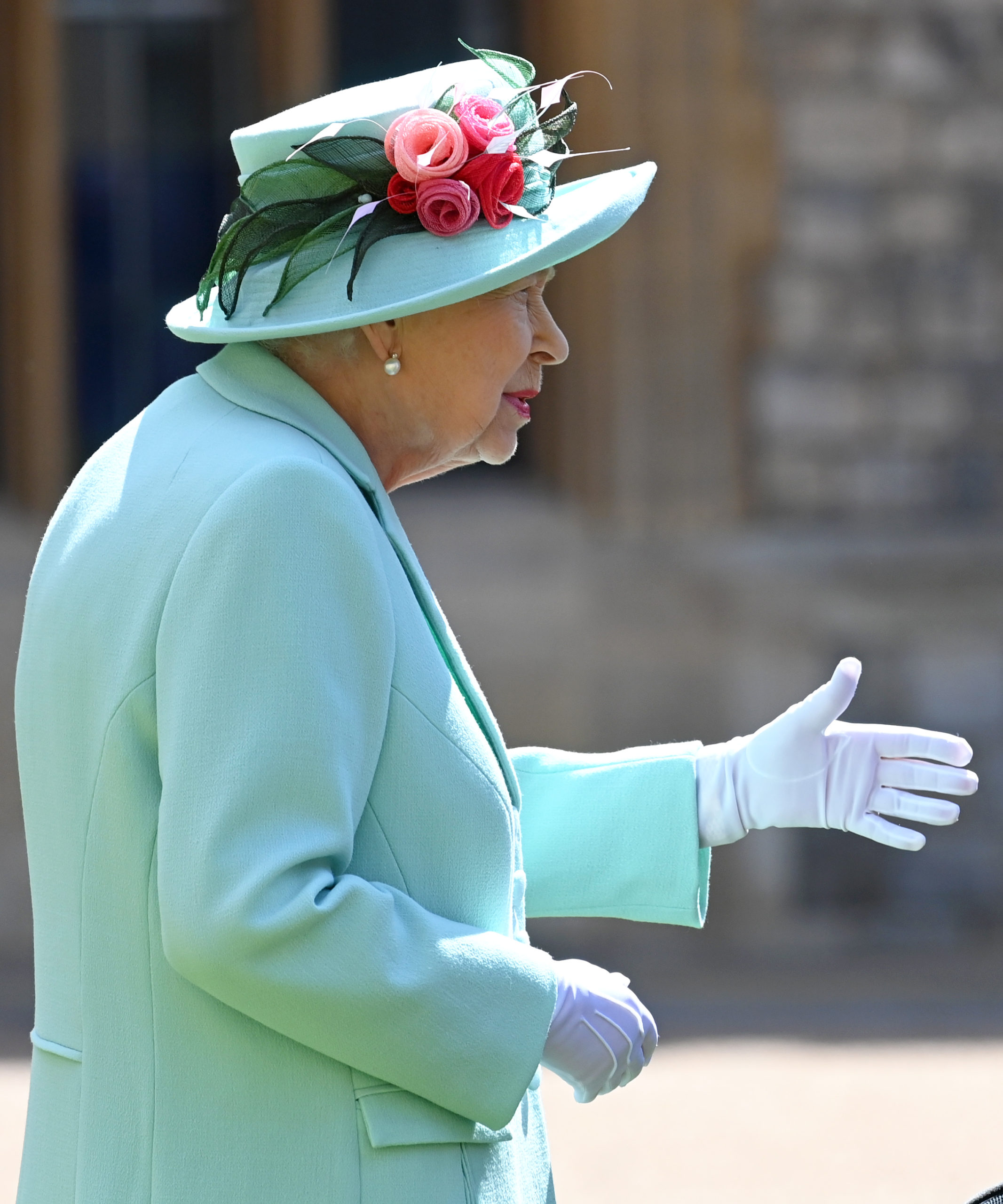 The Queen, at the investiture of Sir Tom Moore