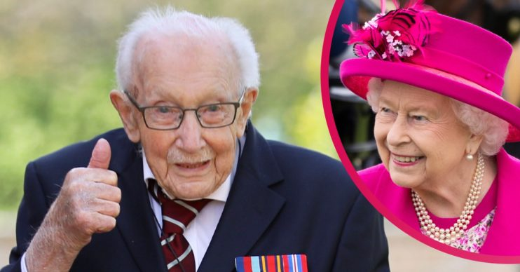 Sir Tom Moore and The Queen