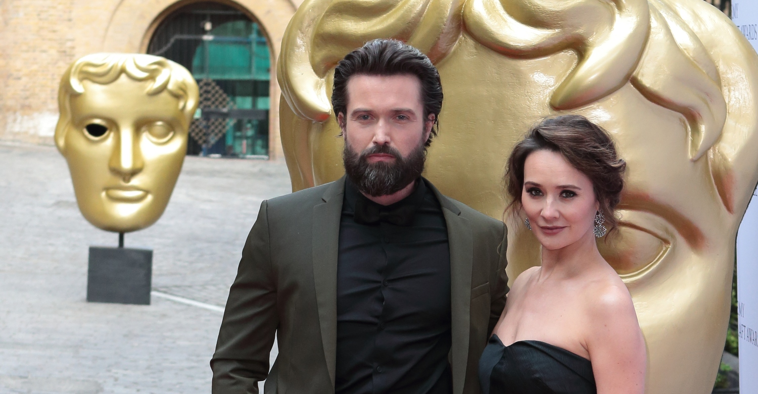 Former Hollyoaks stars Emmett J. Scanlan and Claire Cooper welcome first child