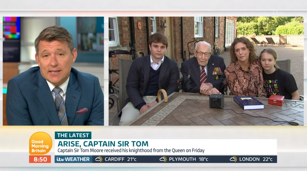 Captain Sir Tom Moore on GMB