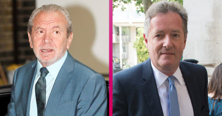 Lord Sugar and Piers Morgan